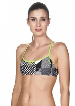 56d6f1c0 Arena - Bikini topp, Bandeau Be, sort/hvit/Grønn (kun size