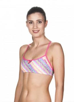 2b6ad03d Arena - Bikini topp, Bandeau Be, multi-rosa (kun size S)