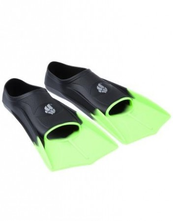 Mad Wave Training Fins Black/Green - bestselger