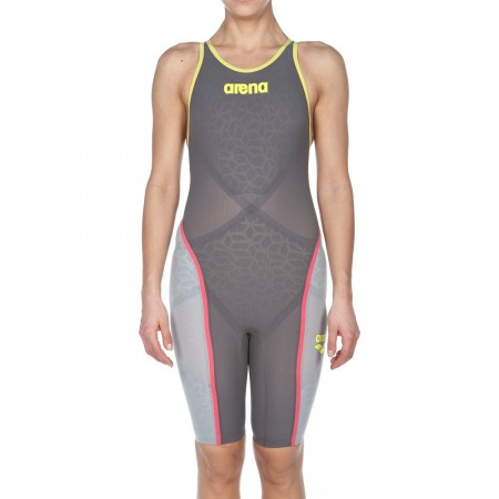 ARENA - Powerskin Carbon Ultra, Open Back, Dark Grey/Fluo Yellow